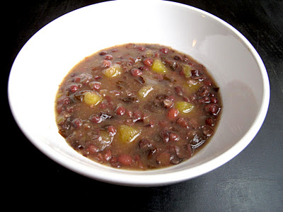 Aduki Bean and Acorn Squash Soup