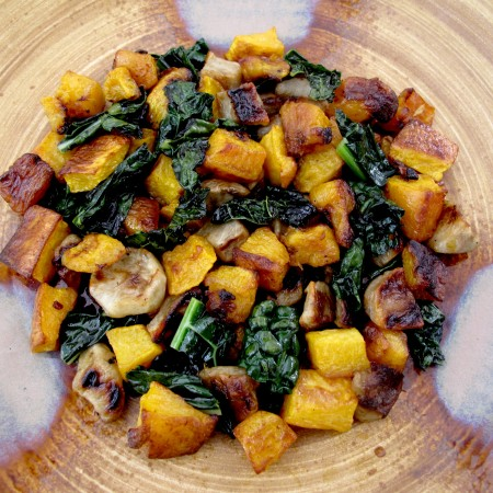 Butternut, Kale, Sunchioke Salad