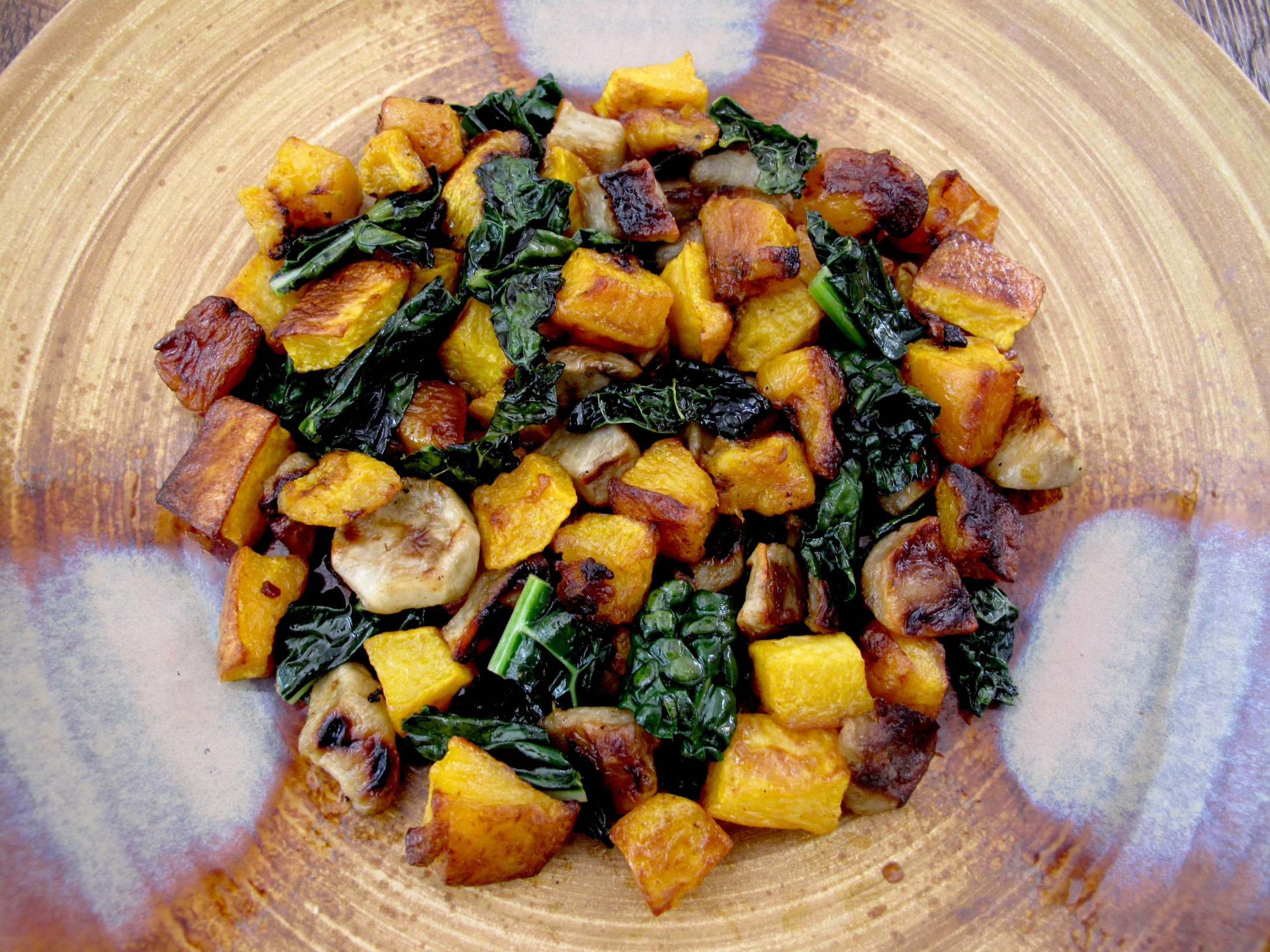 Butternut Kale Sunchioke Salad e1333316165477 Butternut Squash, Kale, and Sunchoke Salad